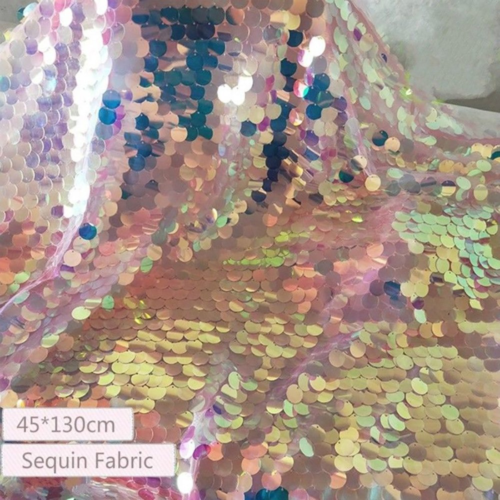 Laser Sequin Fabric Bling Shiny Mermaid Scale Wedding Crafts Backdrop Cloth tong gu