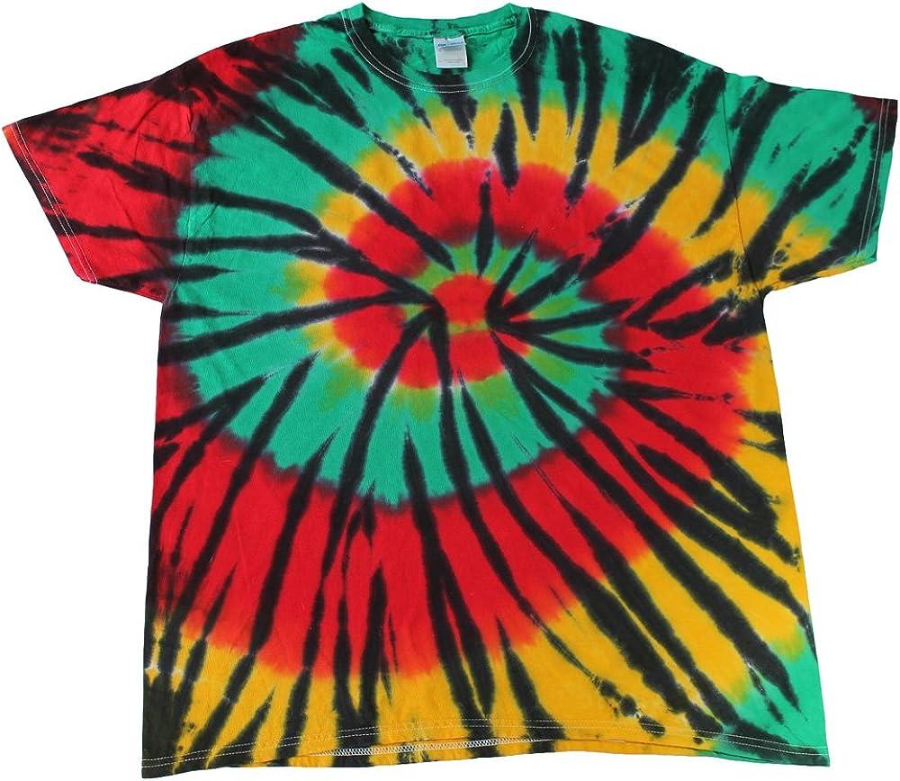 Red Spider Tie Dye T-Shirts Adult S to 5XL Pre-Shrunk Cotton Colortone-Gildan