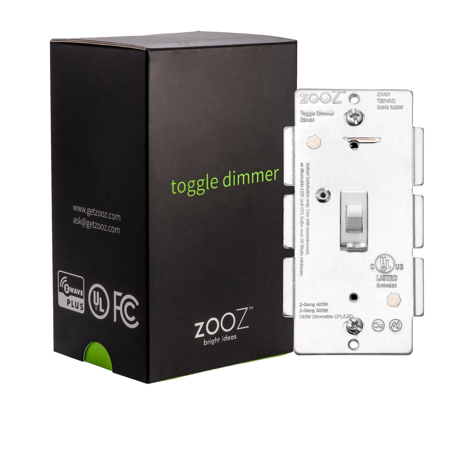 Zooz Z Wave Plus Toggle Dimmer Light Switch Zen24 Ver 20 White Lighting Wiring With Neutral Zwave Home Works Existing Mechanical 3 Way