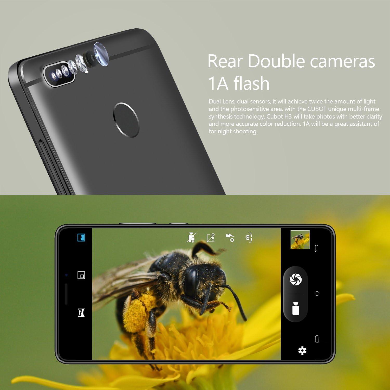 CUBOT H3 Android 7.0 Smartphone Libre 4G-LTE Daul Sim, Batería ...