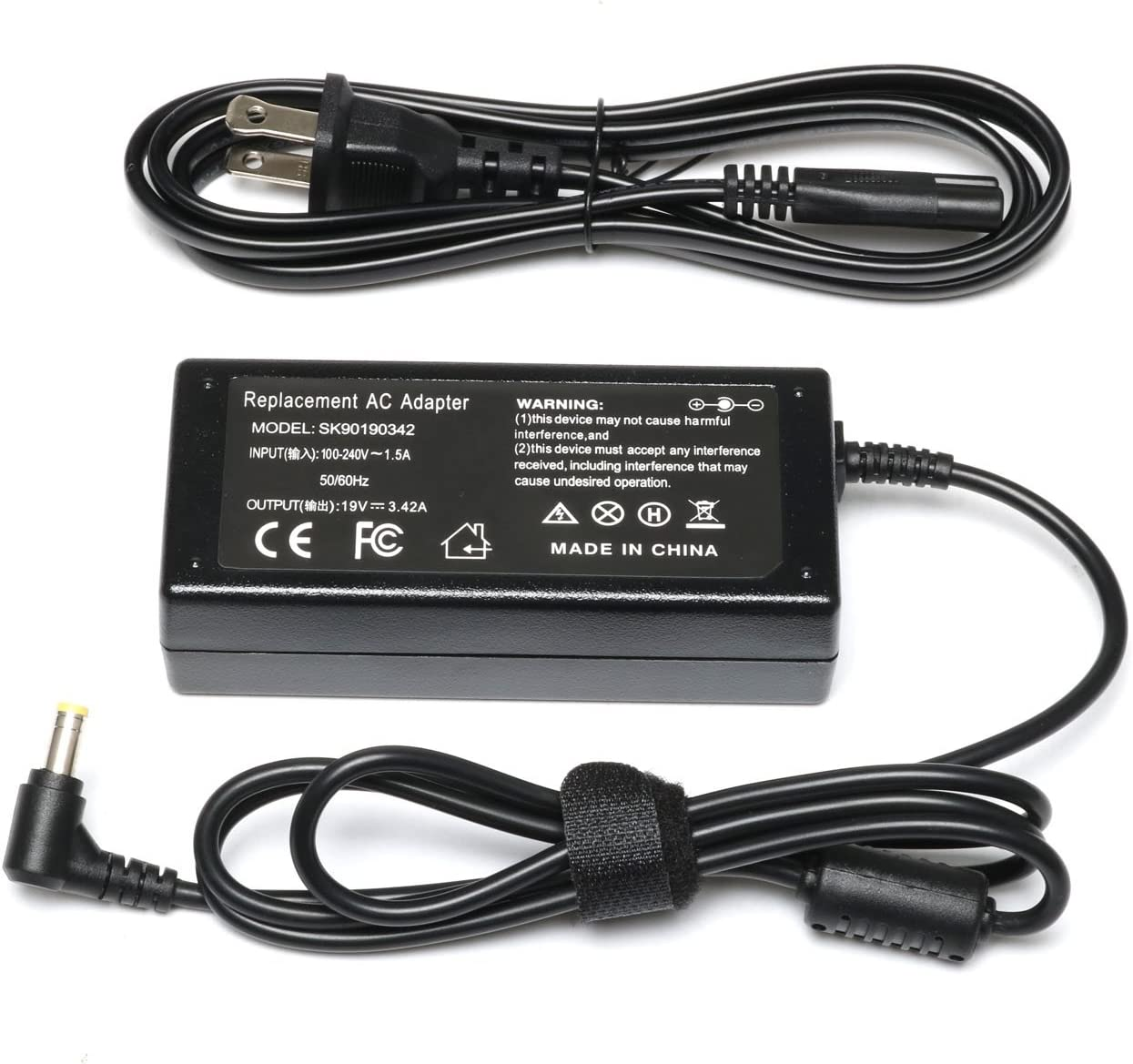 19v 3.42A Laptop Charger AC Adapter for Toshiba Satellite C55 C655 C850 C50 L755 C855 L655 L745 P50 C855D C55D S55;Toshiba Portege Z30 Z930 Z830;Satellite Radius 11 14 15 Power Supply Cord