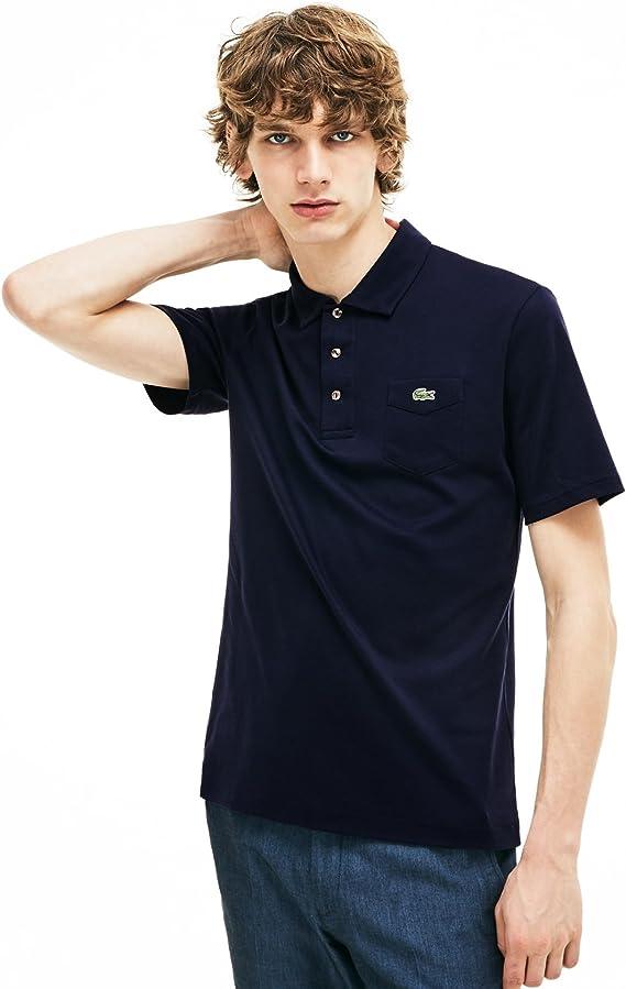 Lacoste mens camisa polo manga corta dh7343 Navy Blue S: Amazon.es ...