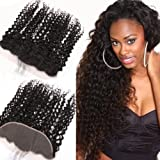 Sent Hair 13x4 Lace Frontal Closure with Baby Hair Free Part Ear to Ear Curly Wave Brazilian Virgin Human Hair Frontal Natural Color 10 inch