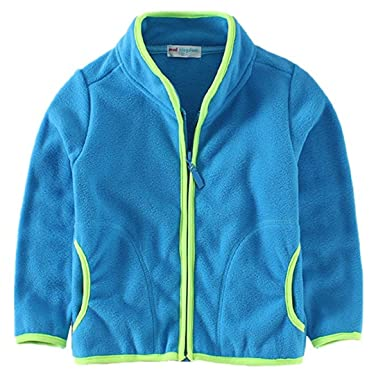 fdc1d3b708b8 Amazon.com  Baby Kid Little Boy Girls Casual Zipper Fleece Jackets ...