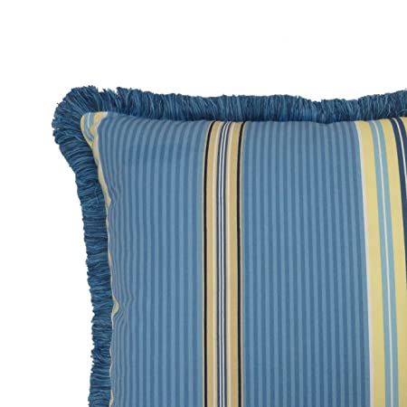 Waverly Imperial Dress Garden Path Reversible Decorative Pillow with Fringe