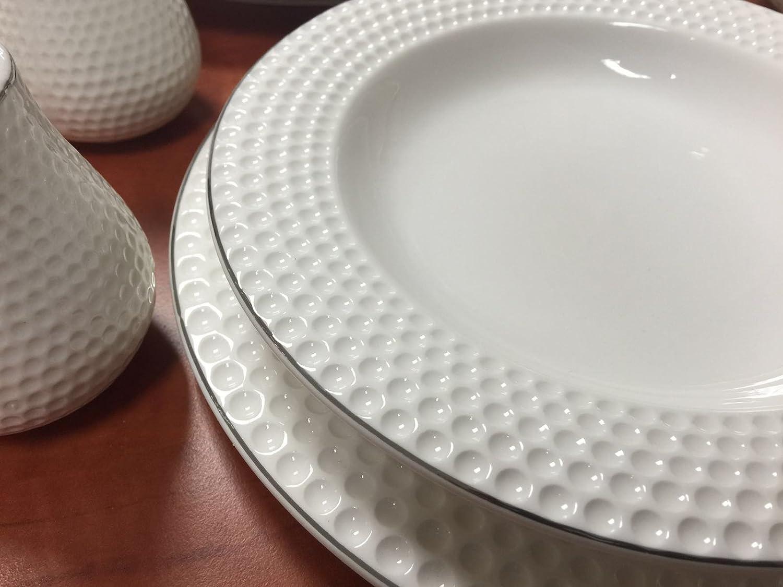 Modernes Geschirr Set 56 teilig tafelservice ess service porzellan set geschirr rund in