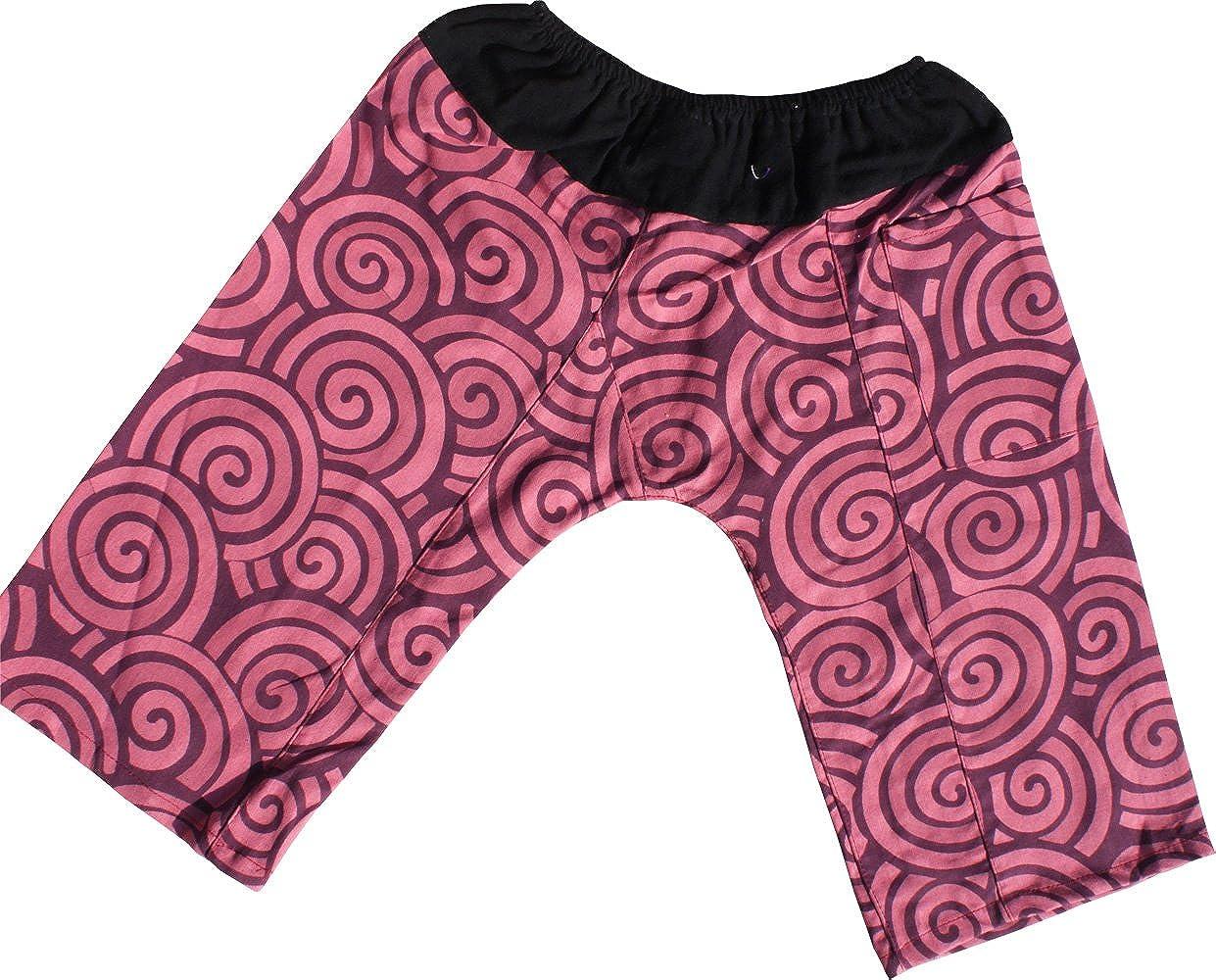 Raan Pah Muang Printed Light Summer Cotton Childrens Baggy Elastic Waist Pants