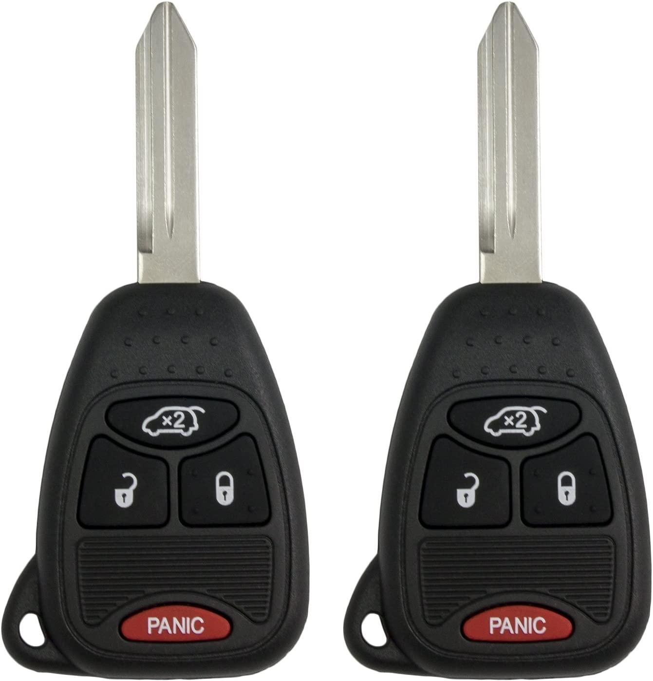Keyless2Go New Uncut Keyless Remote Fobik Key Fob Replacement for Vehicles That Use M3N5WY72XX 2 Pack