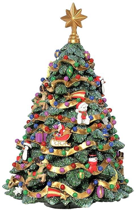 Christmas In San Francisco.The San Francisco Music Box Company Jingle Bell Rotating Christmas Tree Figurine