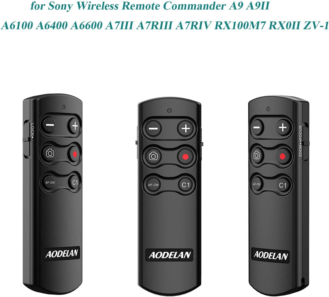for Sony Wireless Remote Commander A9 A9II A6100 A6400 A6600 A7III ...