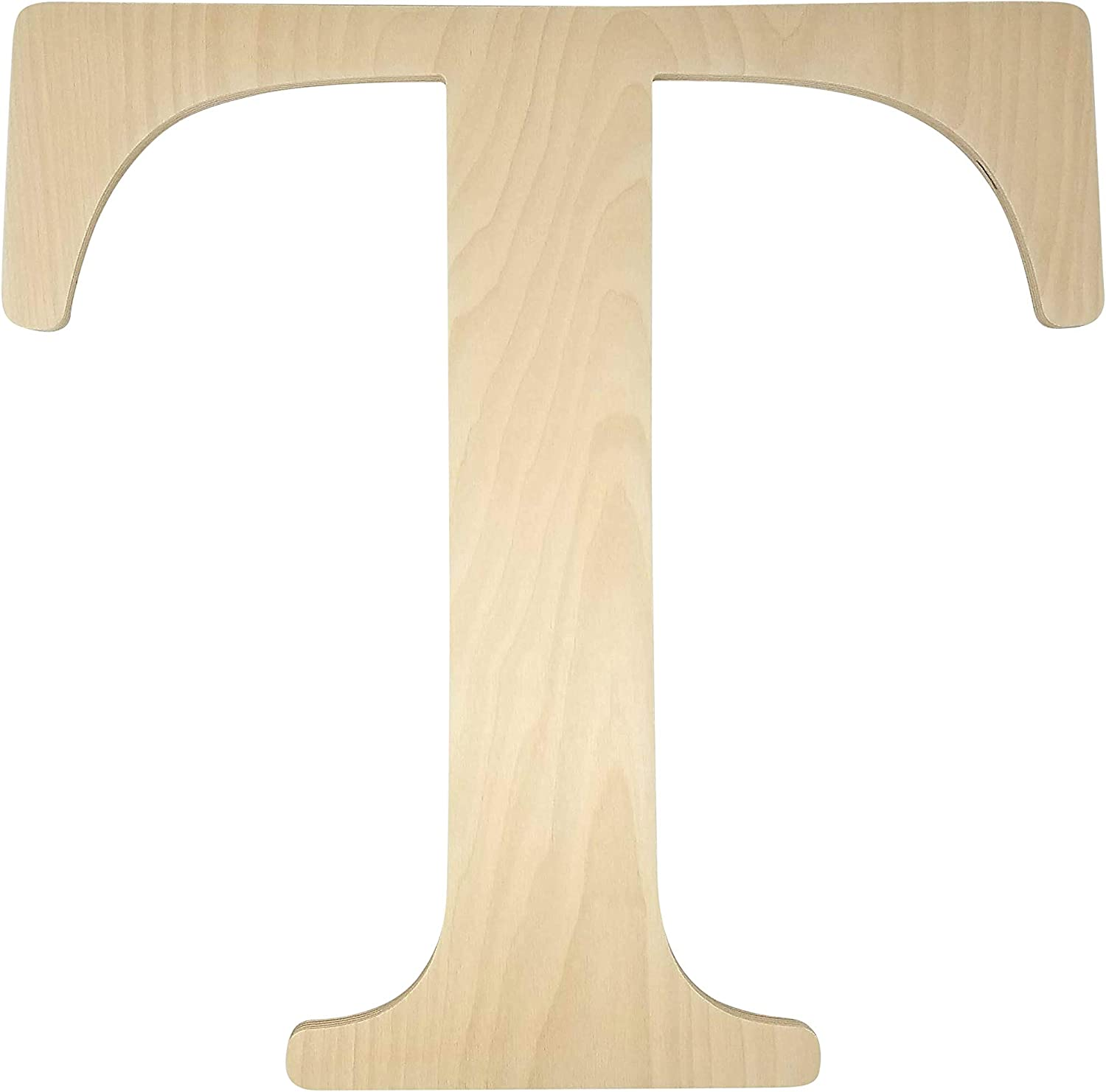 "Unfinished Wooden Letter for Wedding Guest Book Alternative or Wall Decor (24"") (Letter T)"