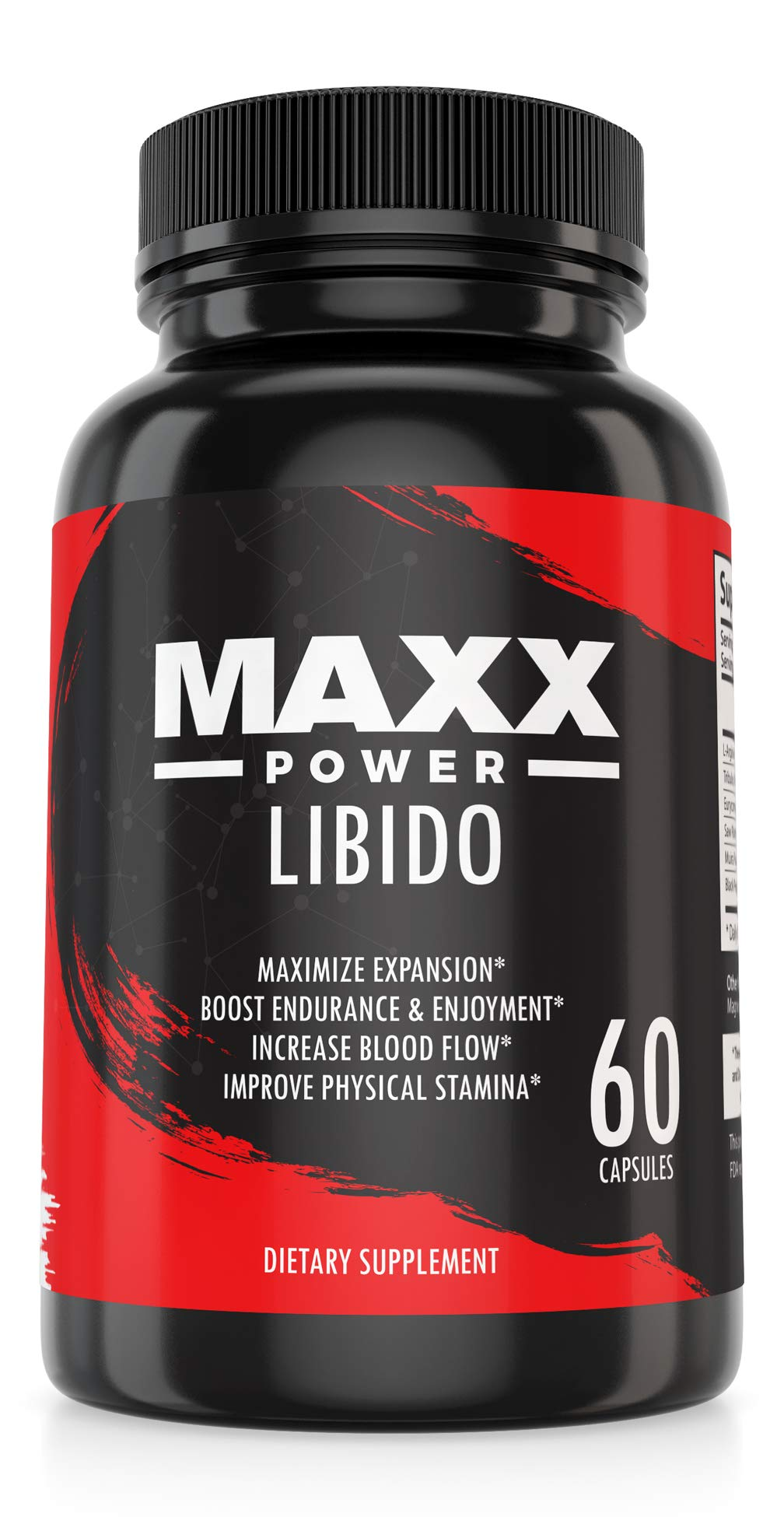 Male Support Supplement by Maxx Power - for Improving Blood Flow, Vascularity, Muscle Growth & Bone Health – Libido Enhancement Pills - Boost Endurance and Energy for Men - Tribulus – 60 Capsules