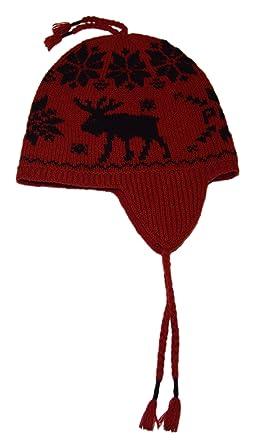 Ralph Lauren - Gorro de esquí (Lana), diseño de Reno, Color Rojo ...