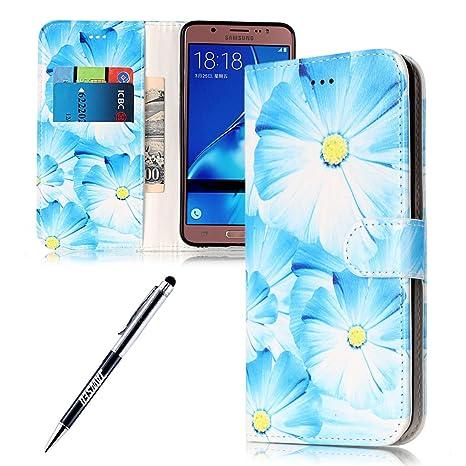 Carcasa Samsung Galaxy J5 2016, Funda Samsung Galaxy J5 2016, JAWSEU Samsung Galaxy J5(2016) SM-J510F Estuche Carcasa Diseño de Libro de Cuero ...