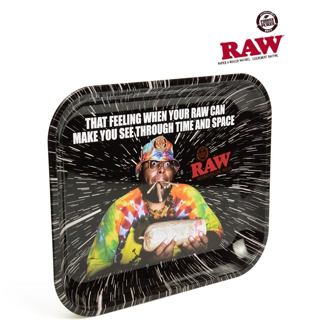Raw 'Oops' Metall-Tablett zum Drehen von Zigaretten, groß , 28 x 34 cm, mit Zertifikat