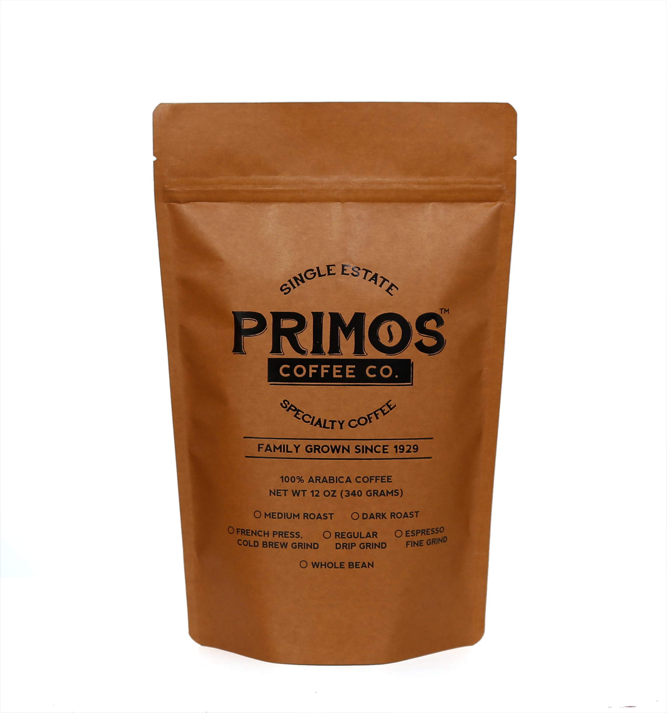 Specialty Coffee for Cold Brewing, Primos Coffee Co (Dark Roast, 12 Oz.)