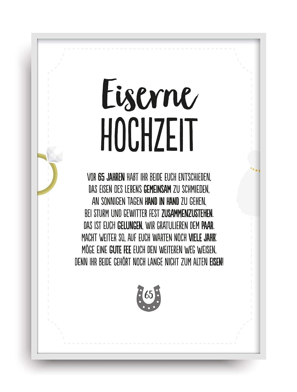 Geschenk Karte EISERNE HOCHZEIT Kunstdruck 10. Hochzeitstag Eisen ...
