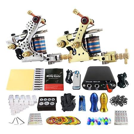 LVYY Pro Completo Tatuaje Kits 2 Carbono Acero Tatuaje Motor 20 ...