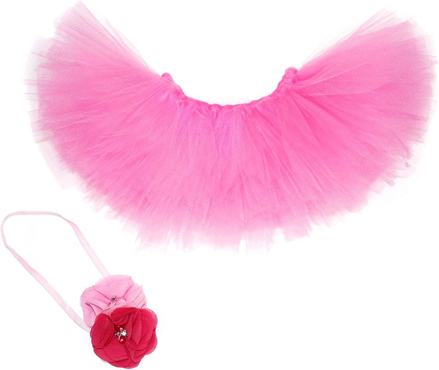 Infant Photography Props//Baby Girl Photo Props Baby Tutu Skirt and Headband Set Newborn Girl Photography Props Outfits