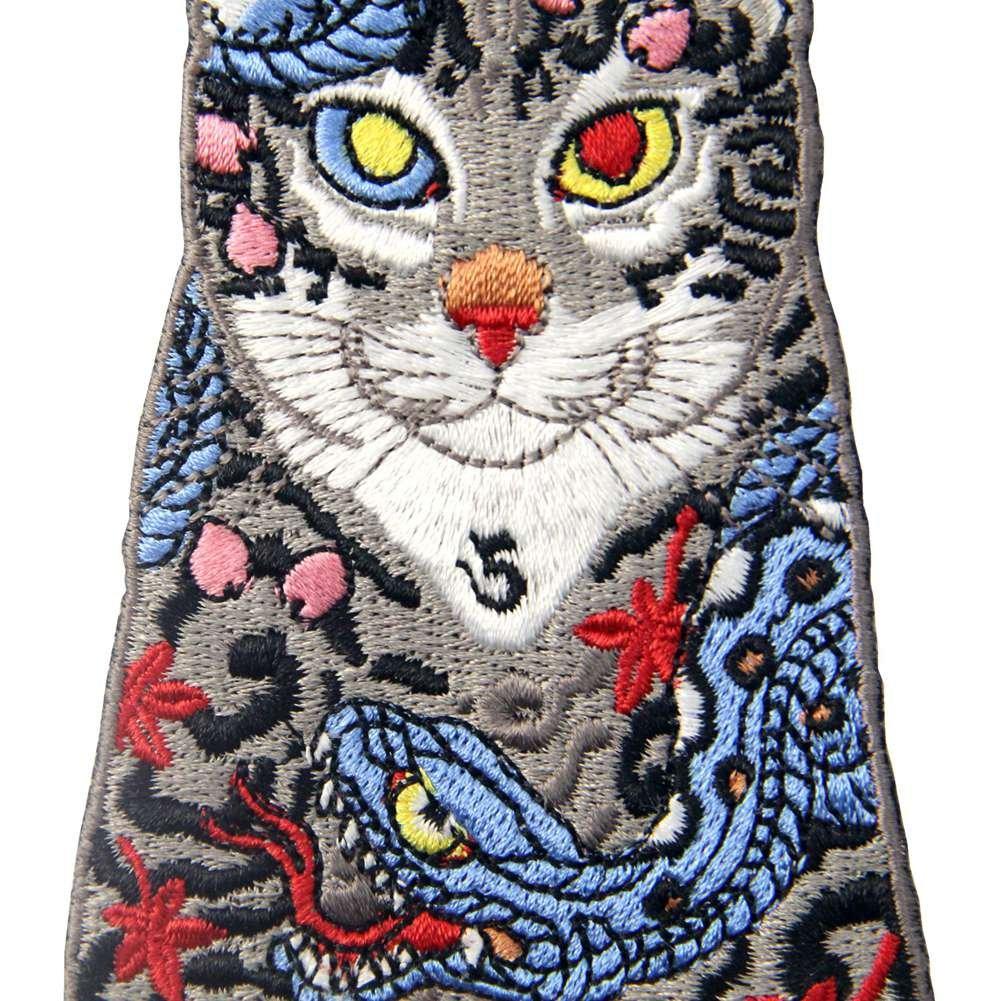 Parche termoadhesivo para la ropa, diseño de Gatos con tatuaje de ...