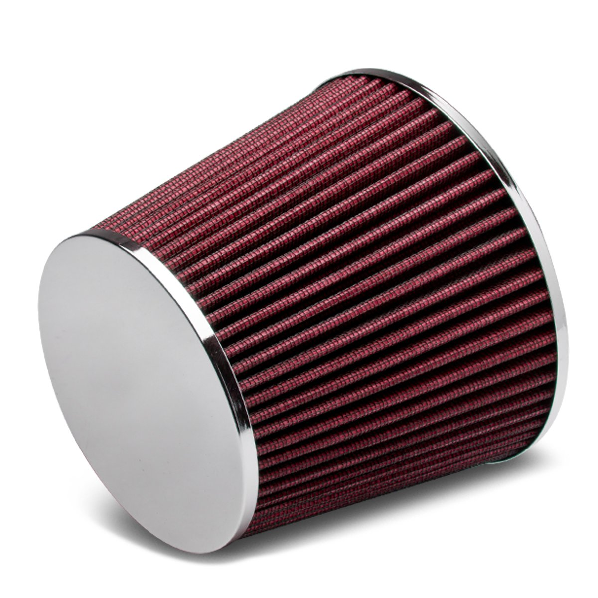 2.5 inches Inlet x 6.3 inches Air Intake Chrome Closed Top Cone Air Filter Blue