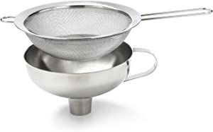 iSi Combination Funnel with Sieve Insert for All Cream/ Food Whippers and Canning, Universal Fit, Stainless Steel