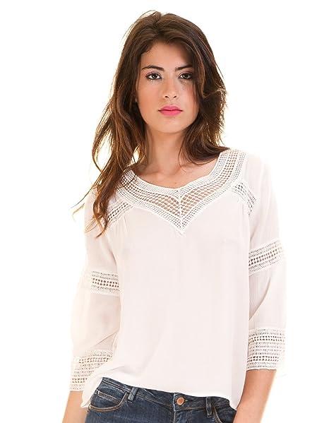 Vila Blusa ibicenca Crochet Vicarrie Blanca Clothes (M - Blanco)