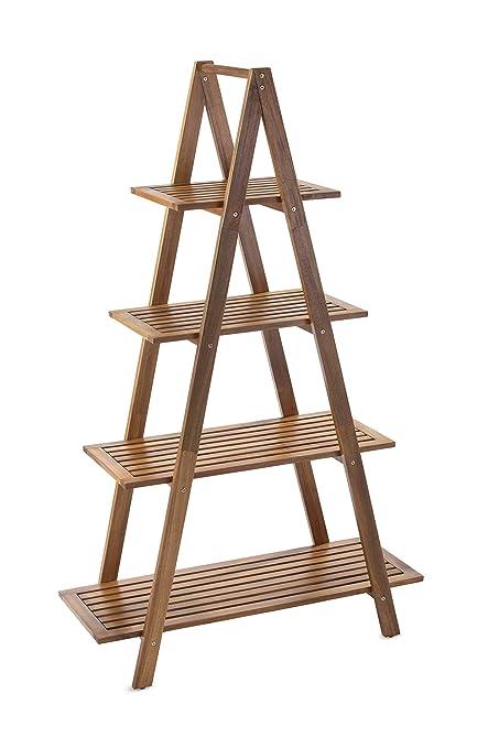 best sneakers a505a b3a5f Sunset Garden SG-105NTR | Cascade Shelf | 4-Tier Real Wood Ladder Bookcase,  Natural