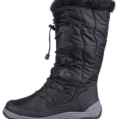 Women's Black Snow Boots US 9