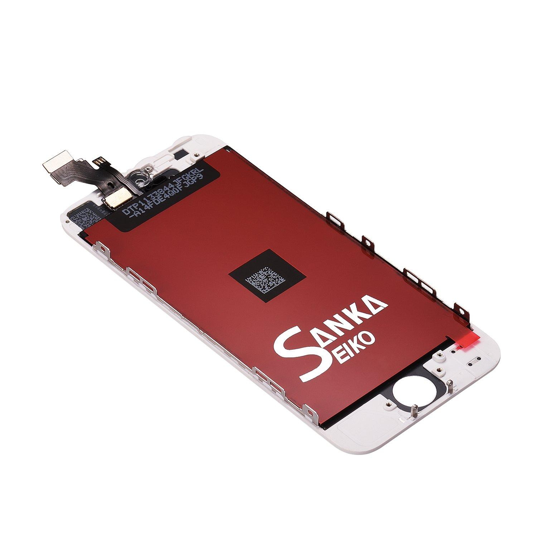 Sanka Pantalla t/áctil LCD para iPhone 6 Plus Herramientas,Color Negro