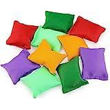 Hslife 20 Pack Colorful Nylon Bean Bags for Bean Bag Toss Game