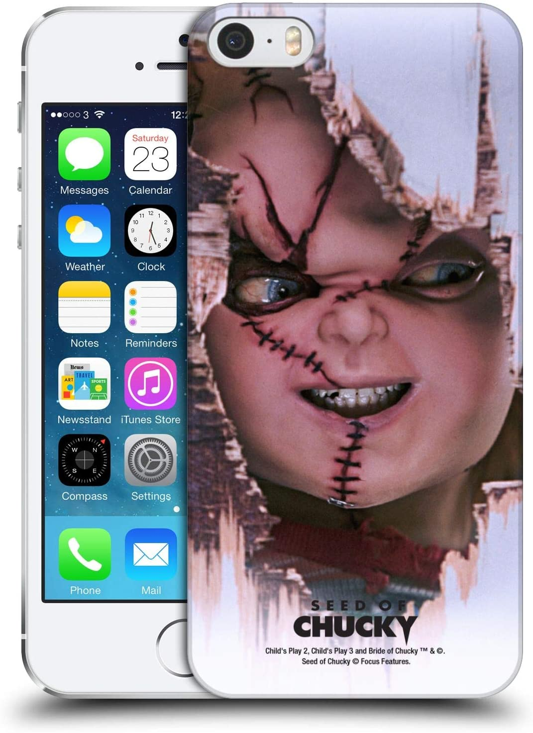 Head Case Designs Officially Licensed Seed of Chucky Scarface Key Art Hard Back Case Compatible with Apple iPhone 5 / iPhone 5s / iPhone SE 2016