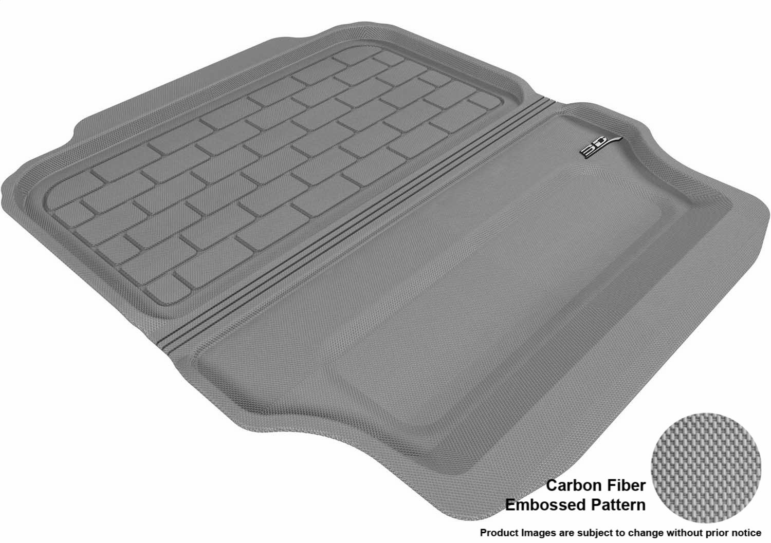 Models Black M1BM0241309 3D MAXpider Custom Fit All-Weather Cargo Liner for Select BMW 3 Series Convertible E93 Kagu Rubber