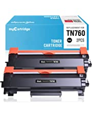 myCartridge Compatible Toner Cartridge Replacement for Brother TN760 TN730 High Yield Black Fit for Mfc-L2710DW Mfc-L2730DW Mfc-L2750DW HL-L2350DW HL-L2370DW Hl-L2390DW HL-L2395DW DCP-L2550Dw(2 Pack)