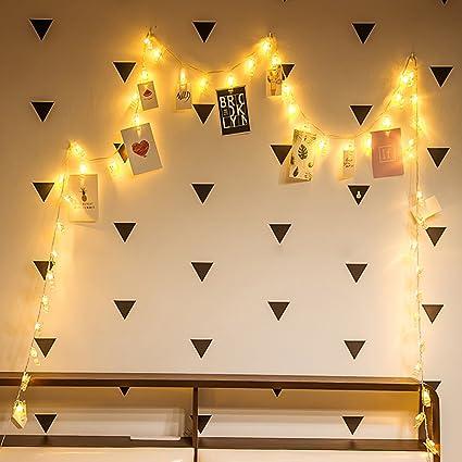 Amazon.com: VeMee LED Photo Clips String Lights Christmas Lights ...