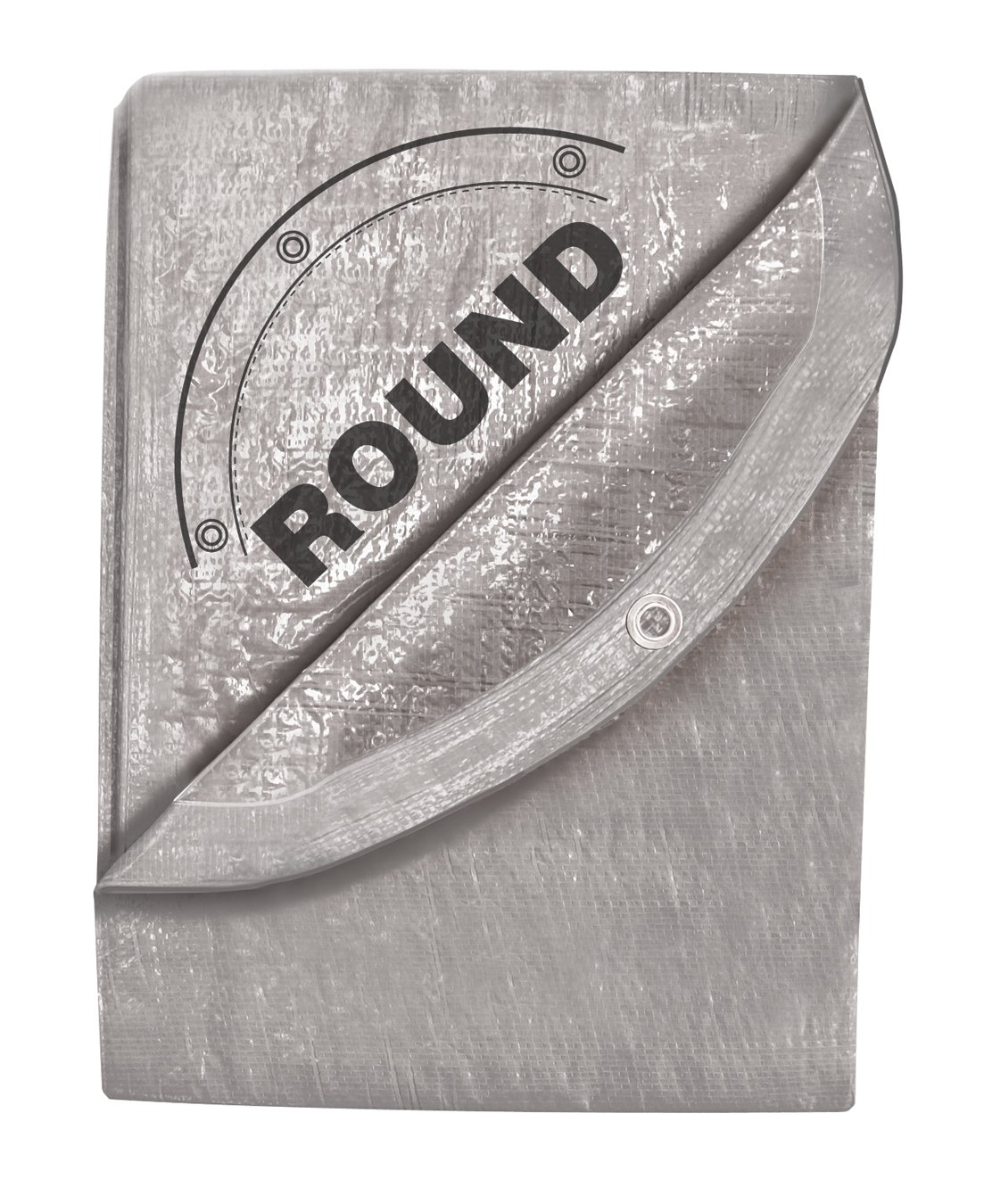 29-Foot by 29-Foot Silver Tarp, Round