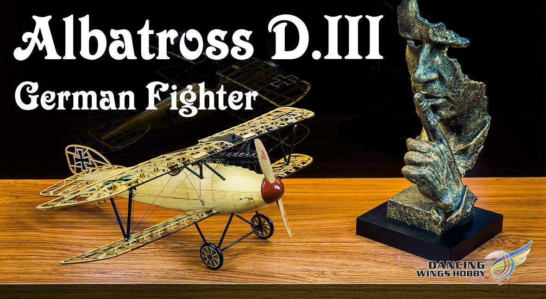 Static Model Wood DIY kit Albatross 500mm Wingspan Airplane Models Building Craft Wood Furnishing