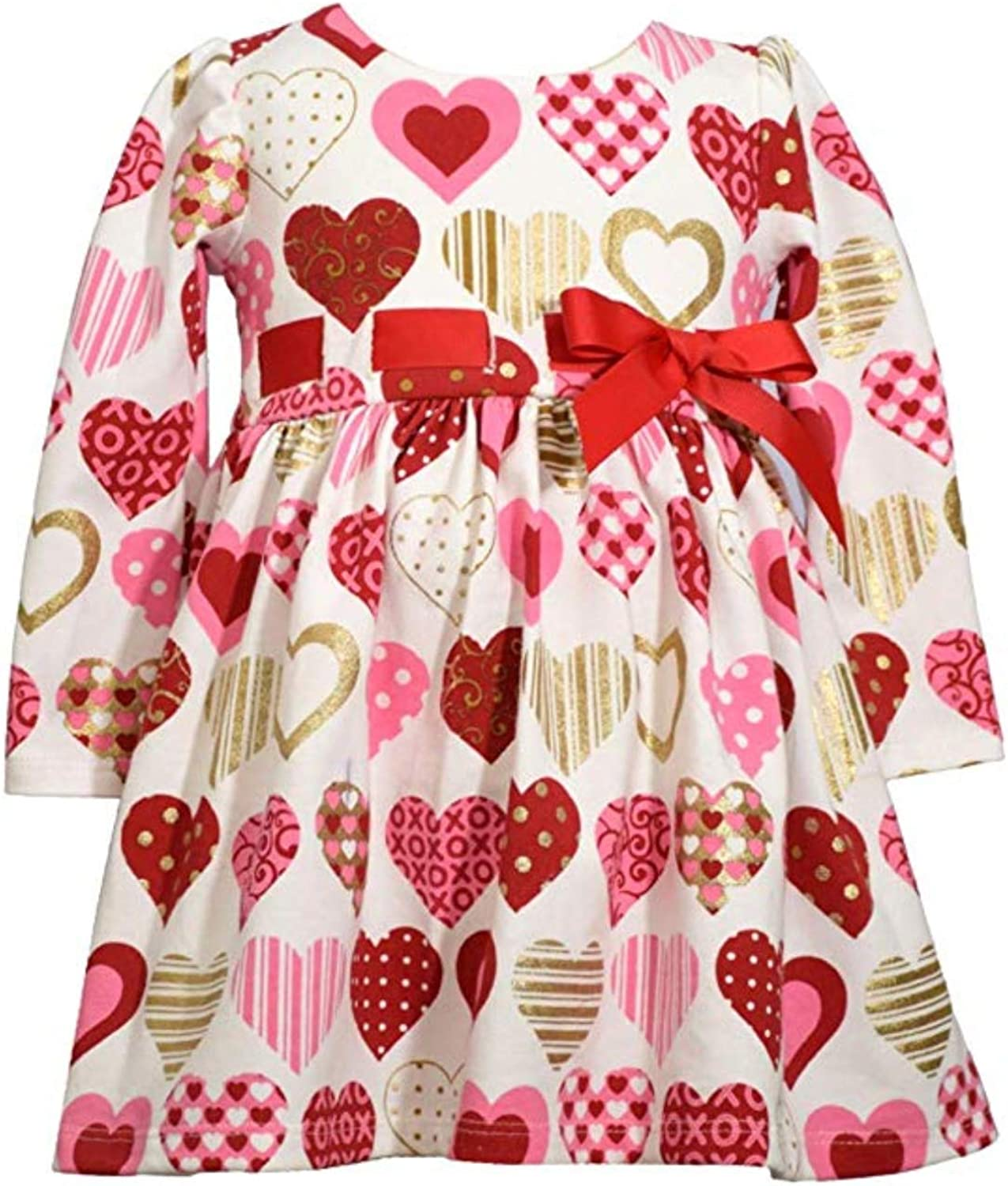 Bonnie Jean Girls Valentines Day Pink Sequins Heart Dress Leggings 2T 3T 4T New