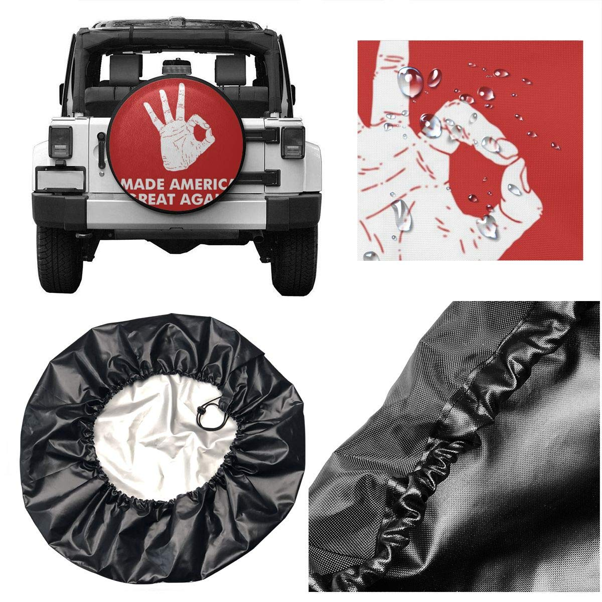 PNNUO RV Trailer Tire Covers for Camper Gorilla Believe Moon Night Spare Tire Wrangler for Motorhome Travel SUV Many Vehicle 14 15 16 17 DIY Wheel Boat Accessories