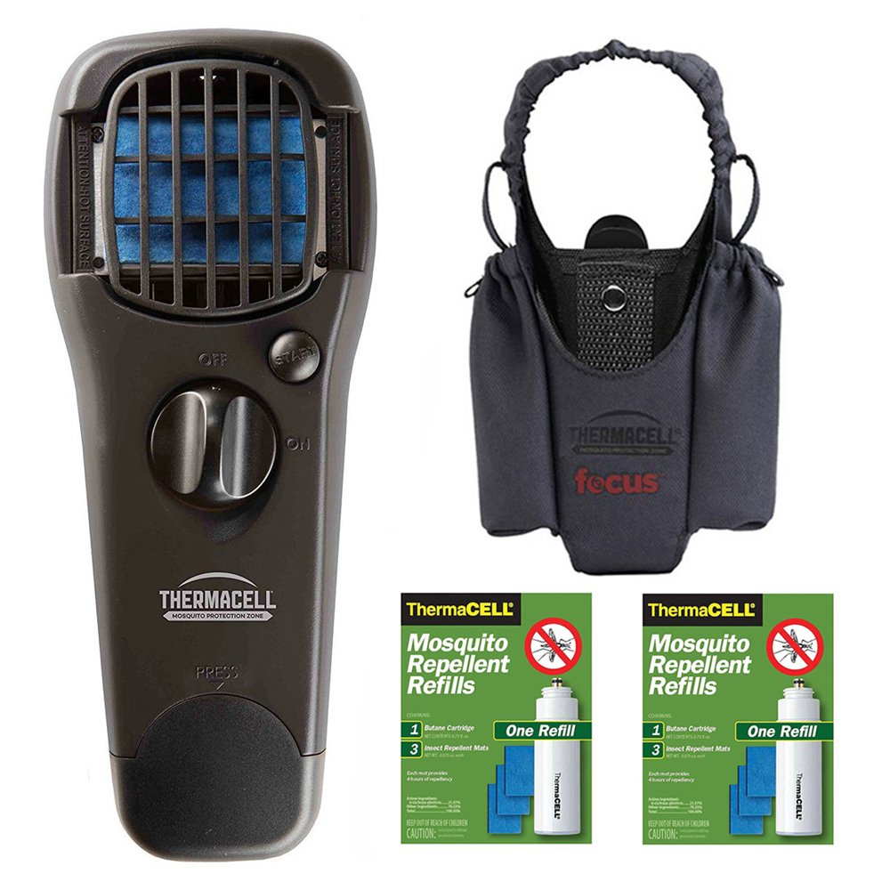Thermacell Mosquito Repellent Appliance (Black) with Graphite Holster and Two R1 Refill Packs