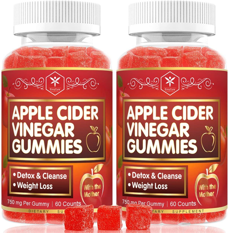 Apple Cider Vinegar Gummies with Mother for Detox & Cleanse, Organic ACV Gummies for Women & Kids, Chewable Apple Cider Vinegar Supplements, Alternative to ACV Capsules, Pills, Tablets - 120 Gummies