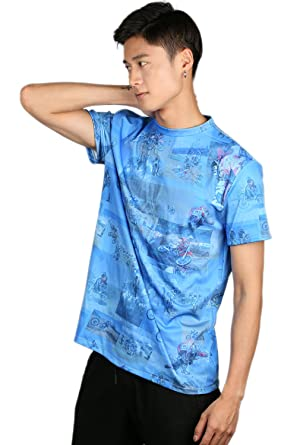 2bf1562e9 Amazon.com: Xcostume Unisex Tyler Durden T-Shirt Deluxe Fight Blue  Polyester Club CL Cosplay XL: Clothing