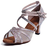 Syrads Zapatos de Baile Latino con pedrería