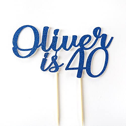 40th Birthday Cake Topper Party Decoration Personalised With Name Is Age Personalise And Any