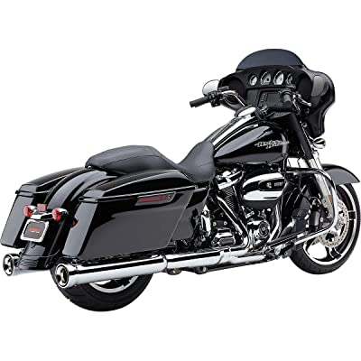 Cobra NH Series Slip-On Exhaust (Chrome) for 17-19 Harley FLHX2: Automotive