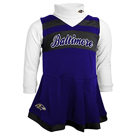 659dbcffd8db Amazon.com: Outerstuff NFL Toddler Cheer Jumper Dress-Rave Purple-4T ...