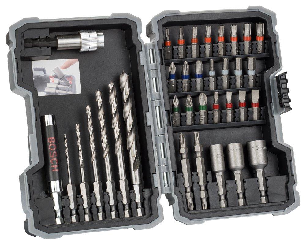 Bosch Professional - Set de 35 unidades para atornillar y perforar madera 2607017327