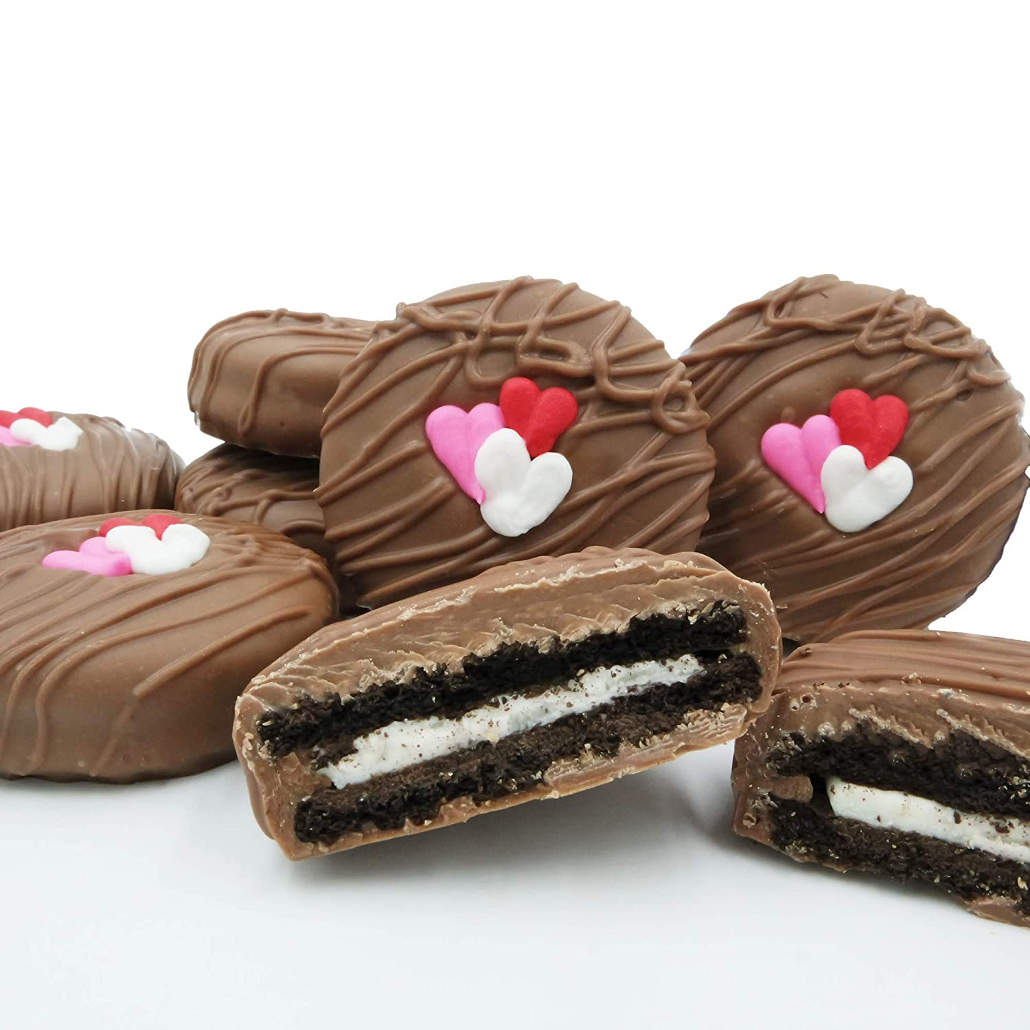 Philadelphia Candies Milk Chocolate Covered Oreo Cookies Valentine S Day Gift 8 Ounce Amazon Com Grocery Gourmet Food