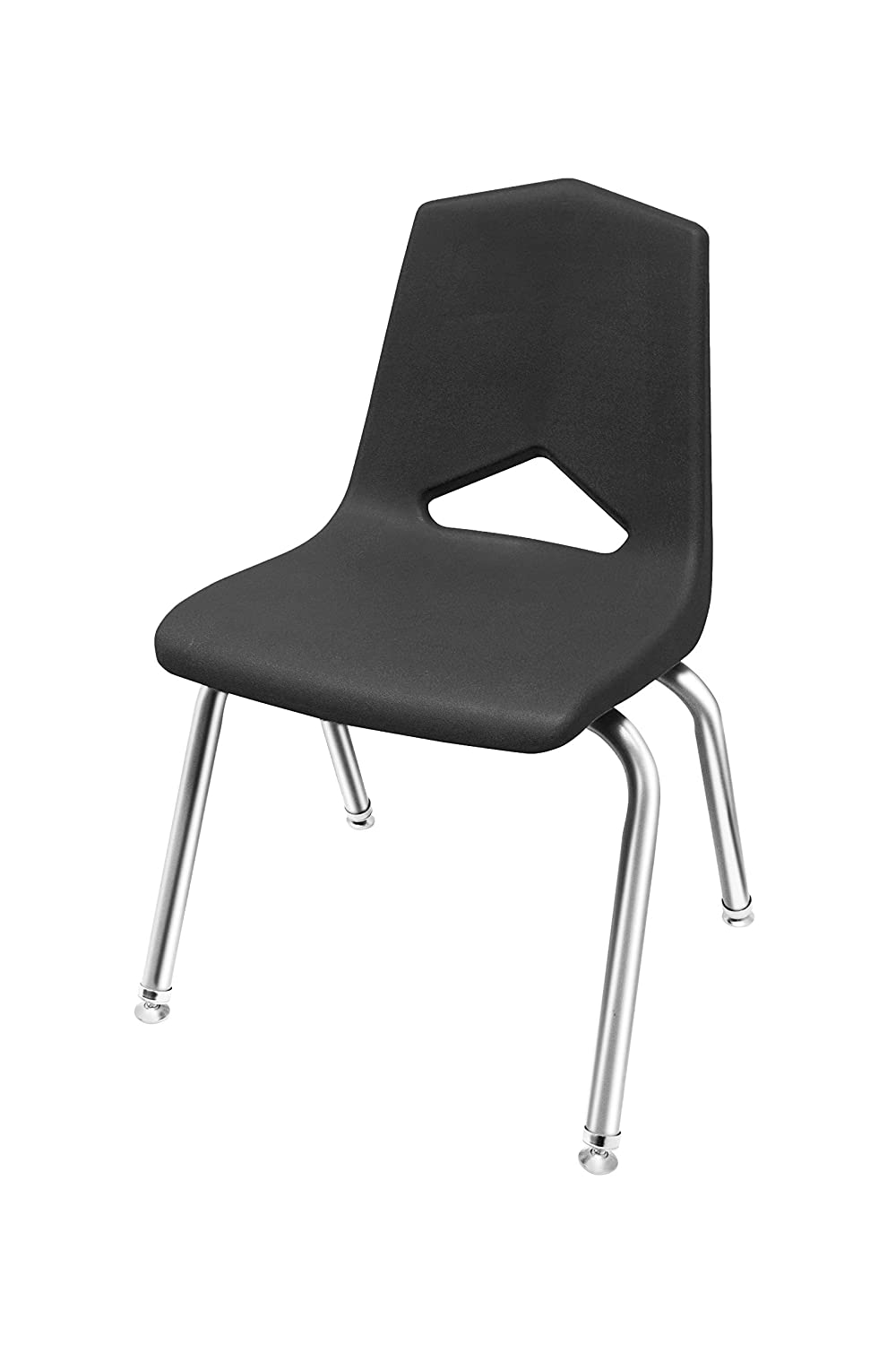 6-Pack School Stack Chairs Chrome Frame Marco Group MGA1101-16CR-BBL 16 Seat Height Blue Seat