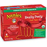 Annie's Homegrown Organic Really Peely Fruit Tape, Strawberry, 6 Count (00272693)